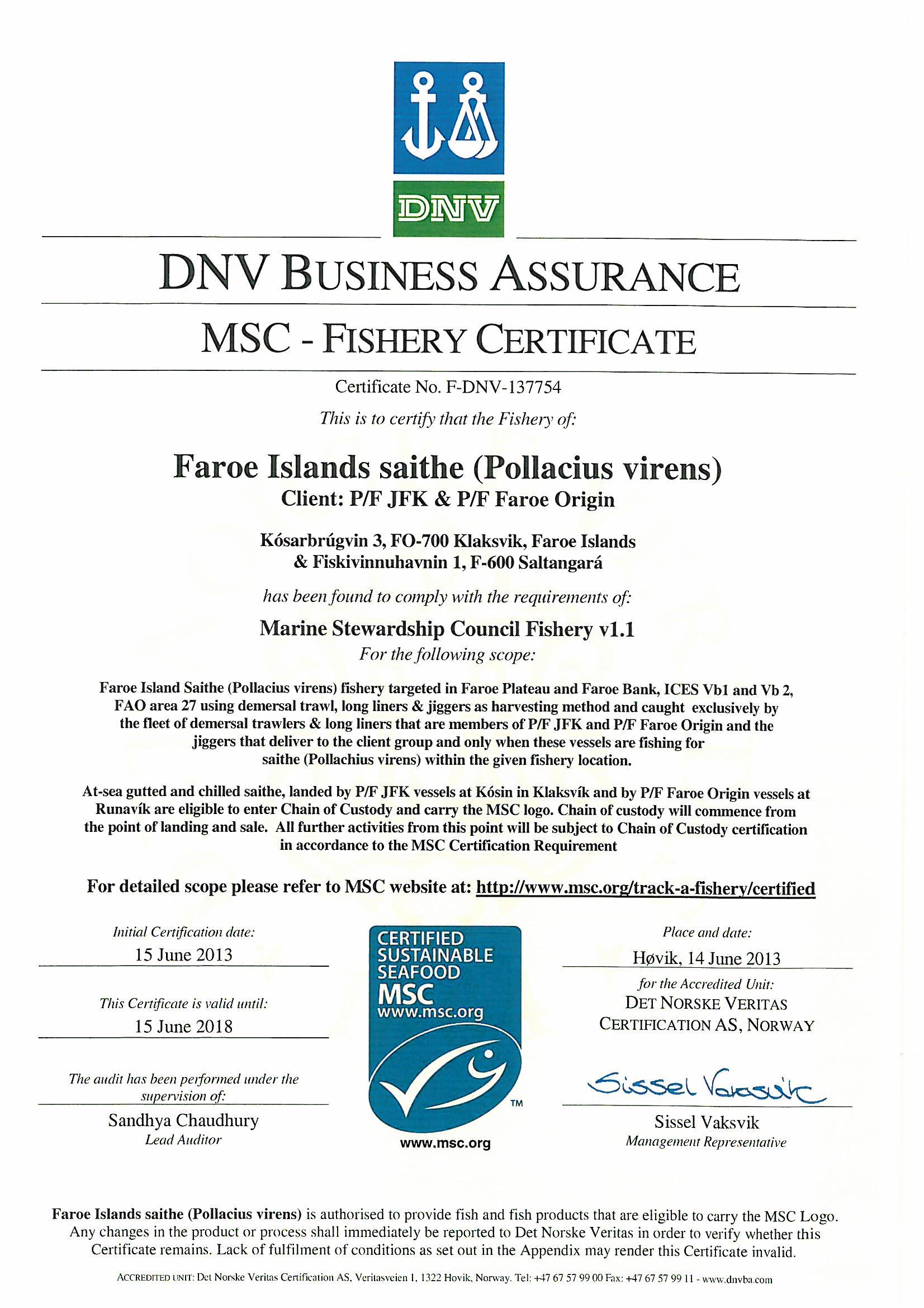 Faroe origin certificates xflitez Choice Image